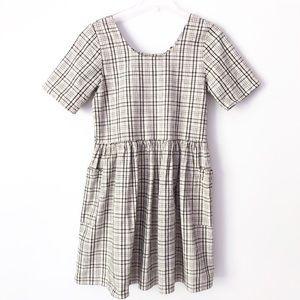 Urban Renewal Plaid Babydoll Pocket Dress